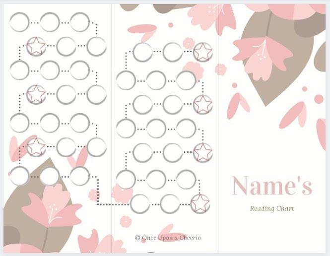Free reward chart printable - sakura flower theme