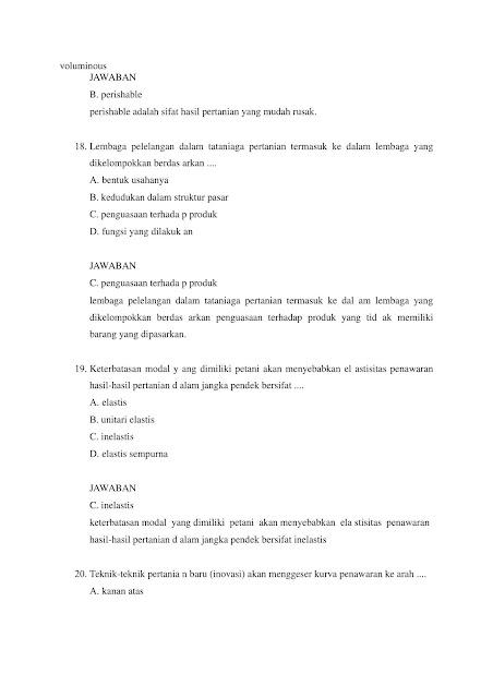 Latihan Soal SKB Pertanian CPNS 2021 + Kunci Jawaban