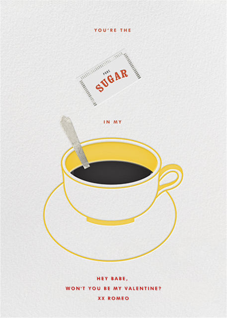 Food-Themed Valentine's Day Cards -- Sugar in My Coffee