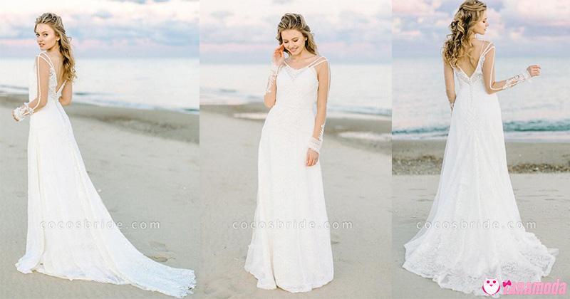 Vestidos de Noiva Minimalistas - Boho Chic
