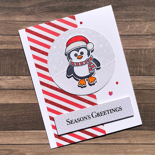 Sunny Studio Stamps: Bundled Up Customer Christmas Themed Card by Caren Bartholomew