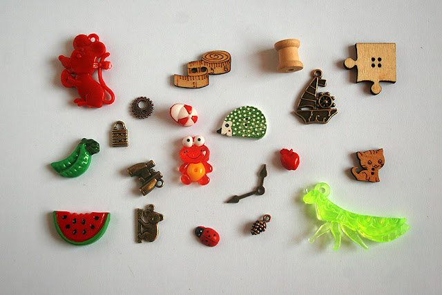 TomToy I spy trinkets collections for handmade I spy bag, bottle, crafts