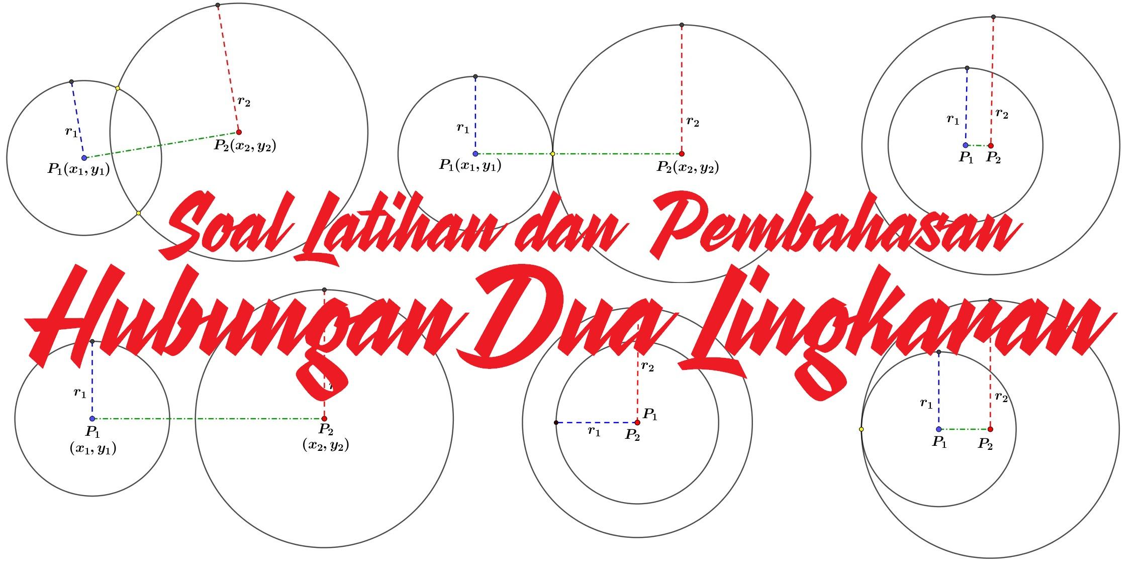 Cara mudah menentukan Hubungan Dua Lingkaran lingkaran