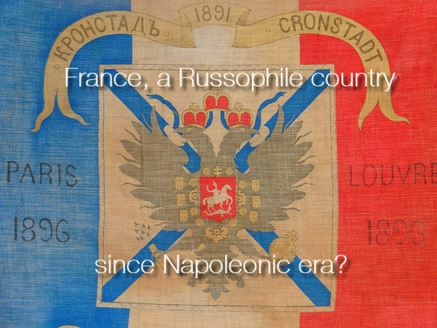 Naval flag comemorating the Franco-Russian alliance of 1891 - Russophilia