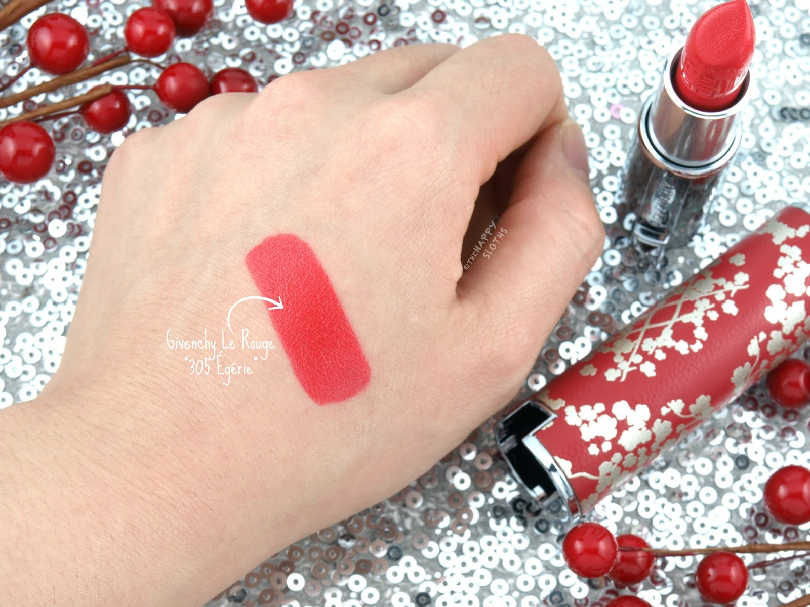 "Givenchy Lunar New Year 2018 | Le Rouge Lipstick in ""305 Egerie"": Review and Swatches"