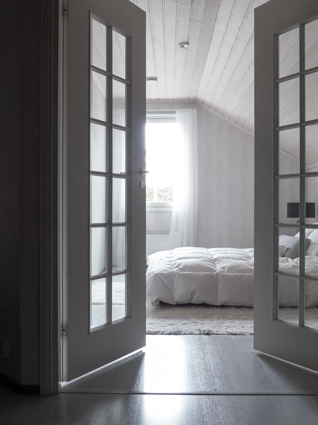 makuuhuone, pariovet,