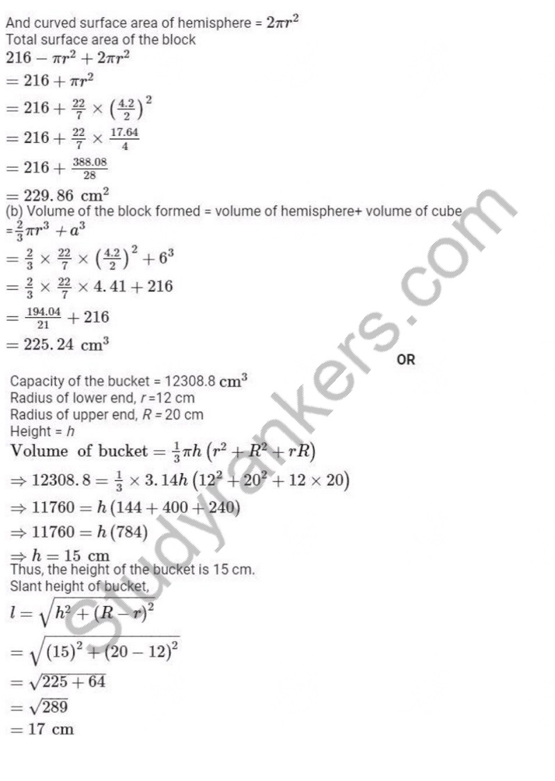 Previous Year Question Paper for CBSE Class 10 Maths 2019 Part 21