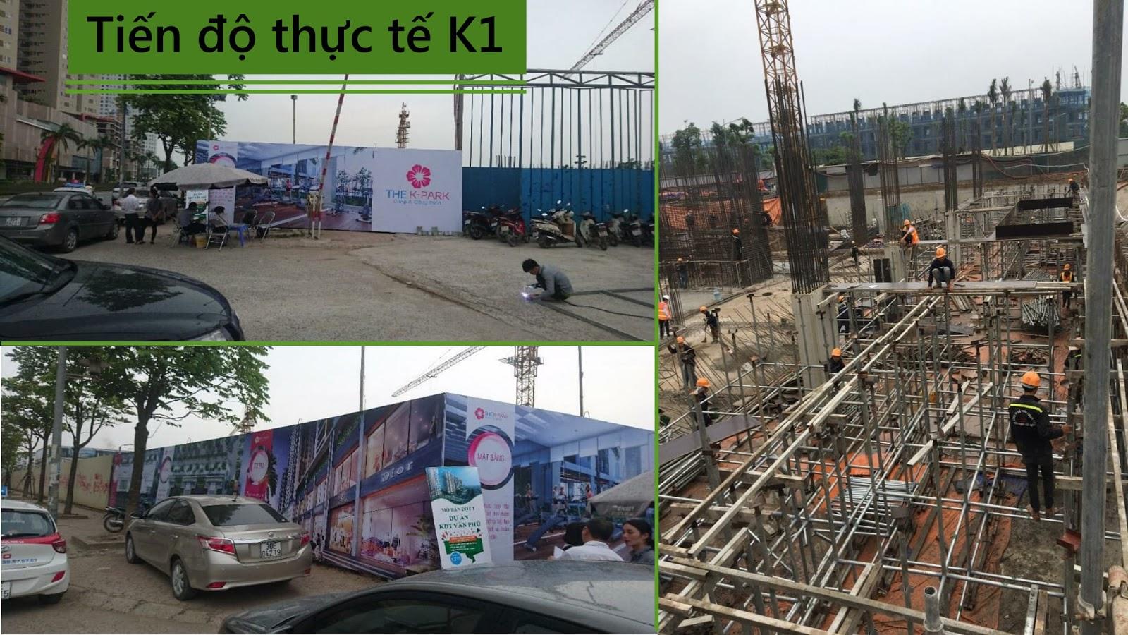 Tiến độ thi công dự án hiện tại dự án The K Park