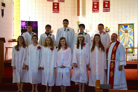 Great Confirmation and Palm Sunday at Our Savior Fenton - Congrats!