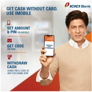 ICICI Bank - 'Cardless Cash Withdrawal' through ATM using 'iMobile'