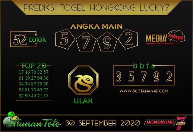 Prediksi Togel HONGKONG LUCKY 7 TAMAN TOTO 30 SEPTEMBER 2020