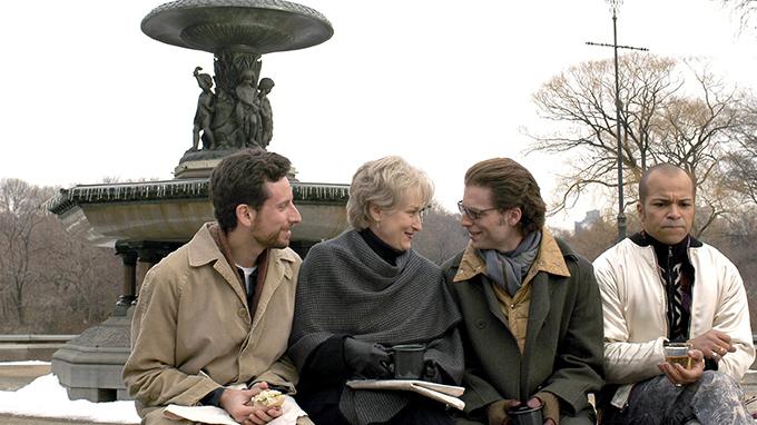 Ben Shenkman, Meryl Streep, Justin Kirk y Jeffrey Wright