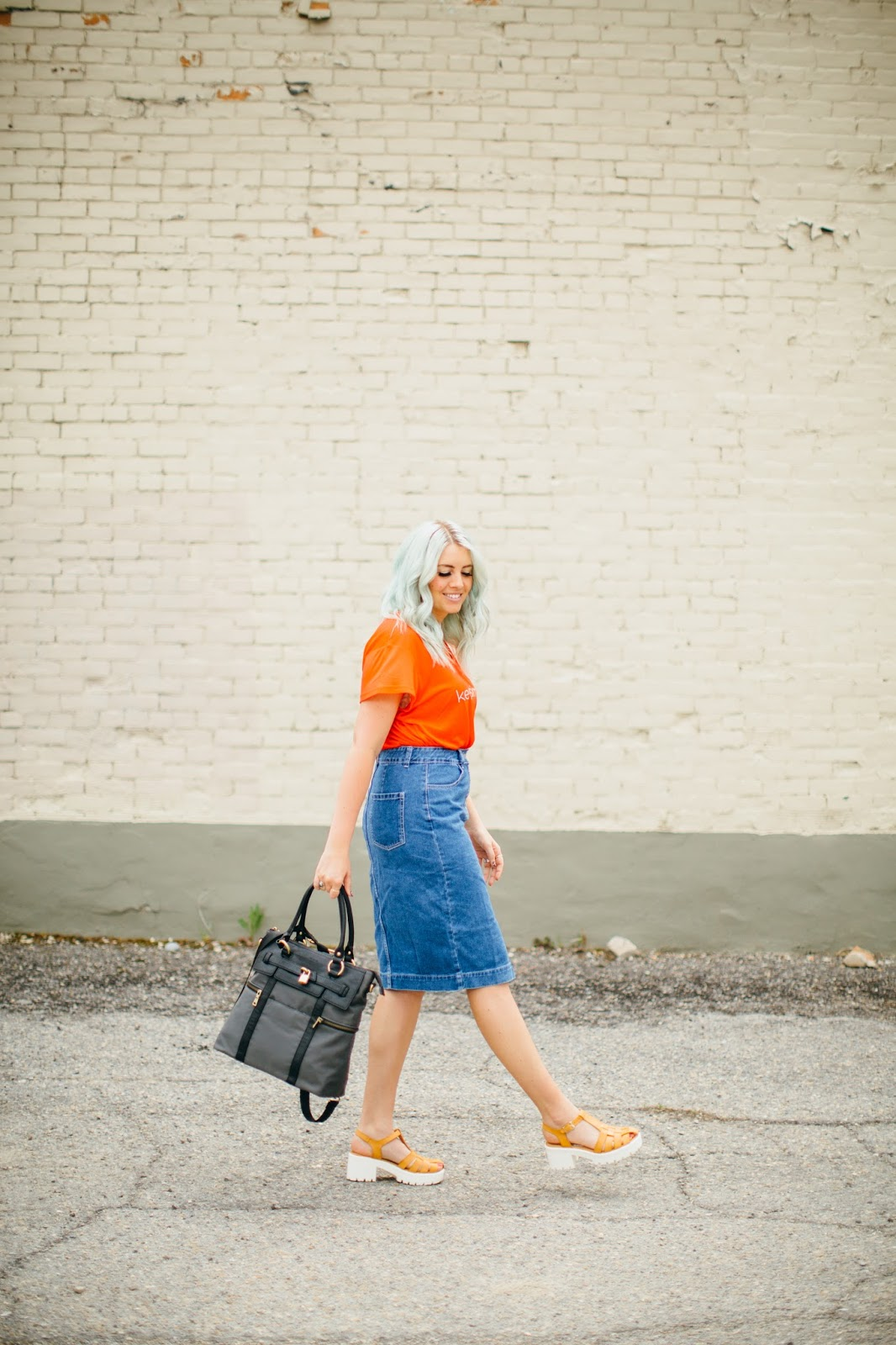 Utah Fashion Blogger, Jean Skirt, Cara Loren Shop
