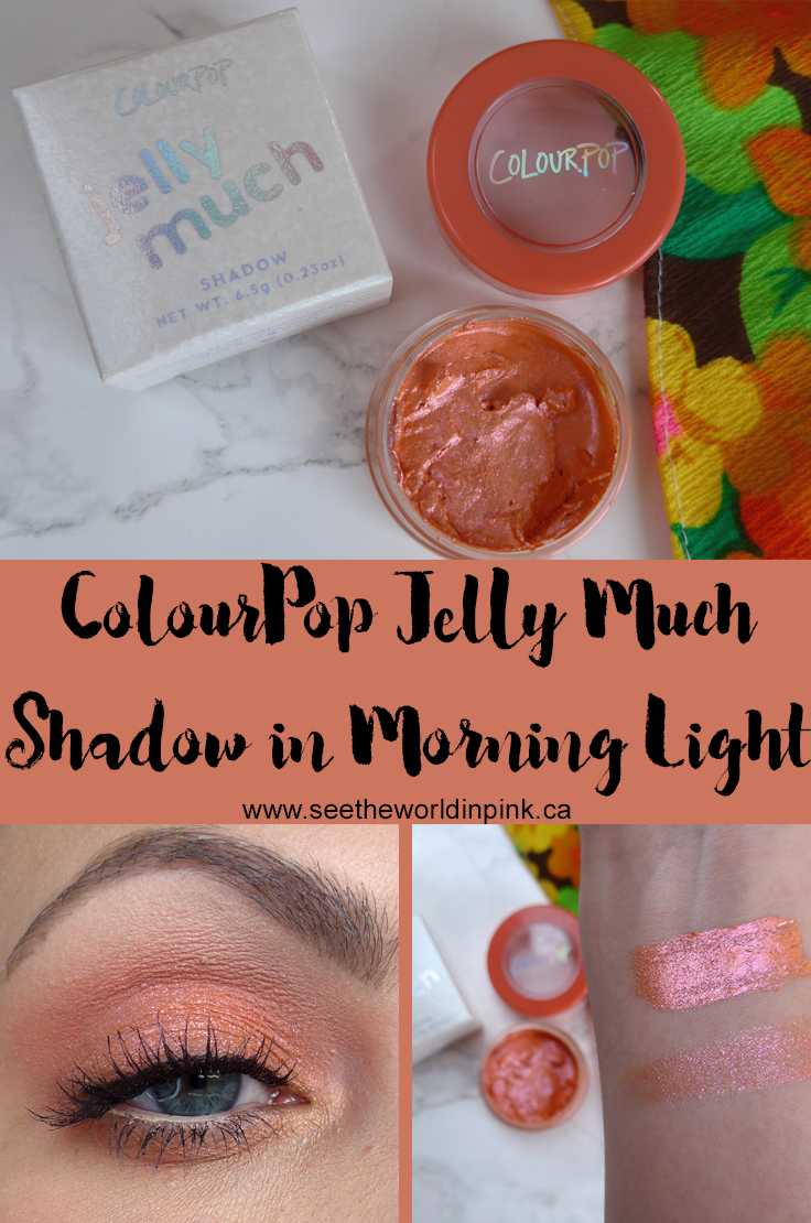 ColourPop Jelly Much Shadow in Morning Light