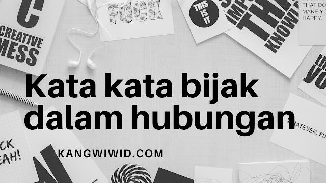 kata kata bijak dalam hubungan