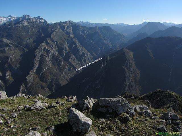 Vista del Desfiladero de los Beyos desde el Carriá