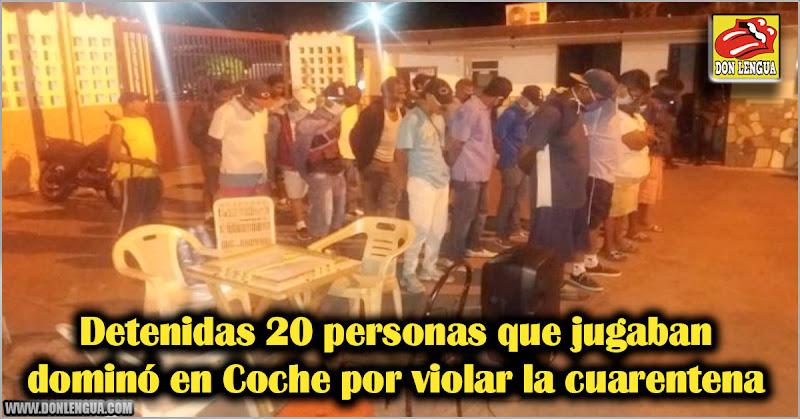 Detenidas 20 personas que jugaban dominó en Coche por violar la cuarentena