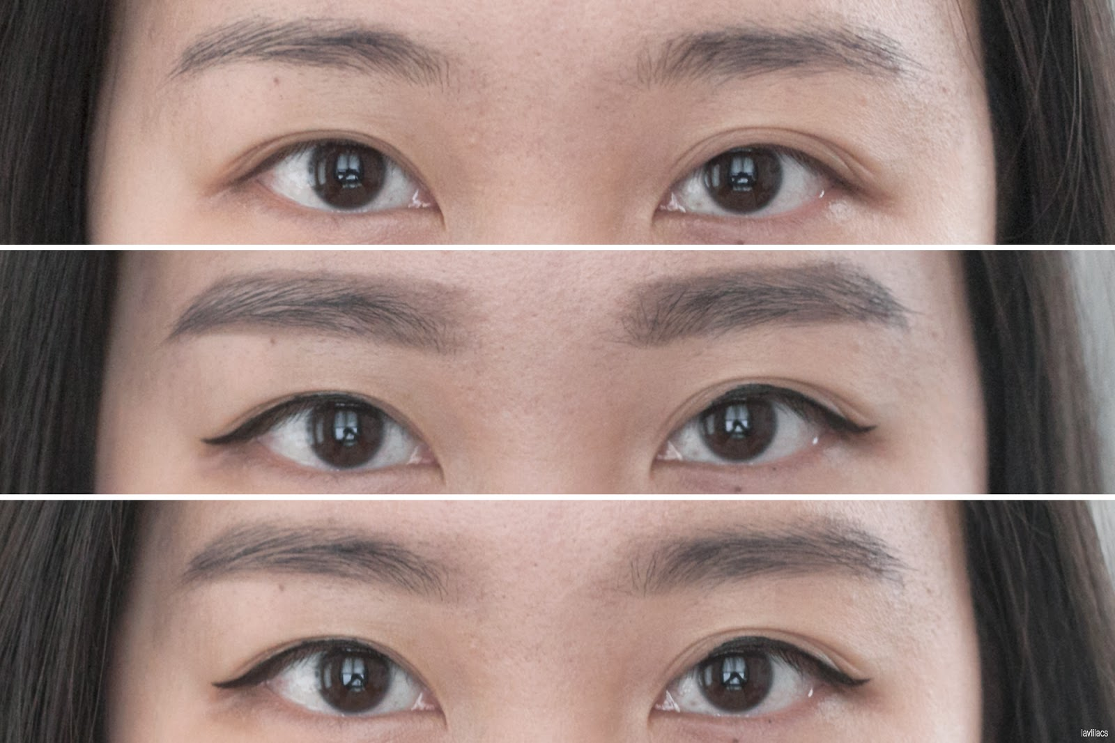 lavlilacs shu uemura brow sword eyebrow pencil seal brown swatch on brows