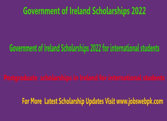 government-of-ireland-scholarships-2022-for-Postgraduate