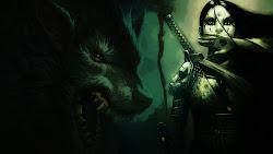 wolf dark wallpapers hd desktop hunter wolfs wallpapersafari laptops