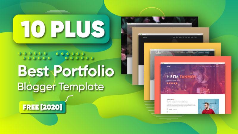 Best Portfolio Blogger Templates Download