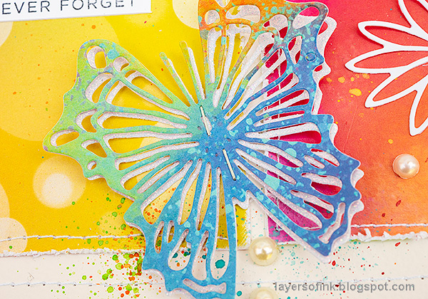Layers of ink - Rainbow Blocks Scrapbooking Page by Anna-Karin Evaldsson.
