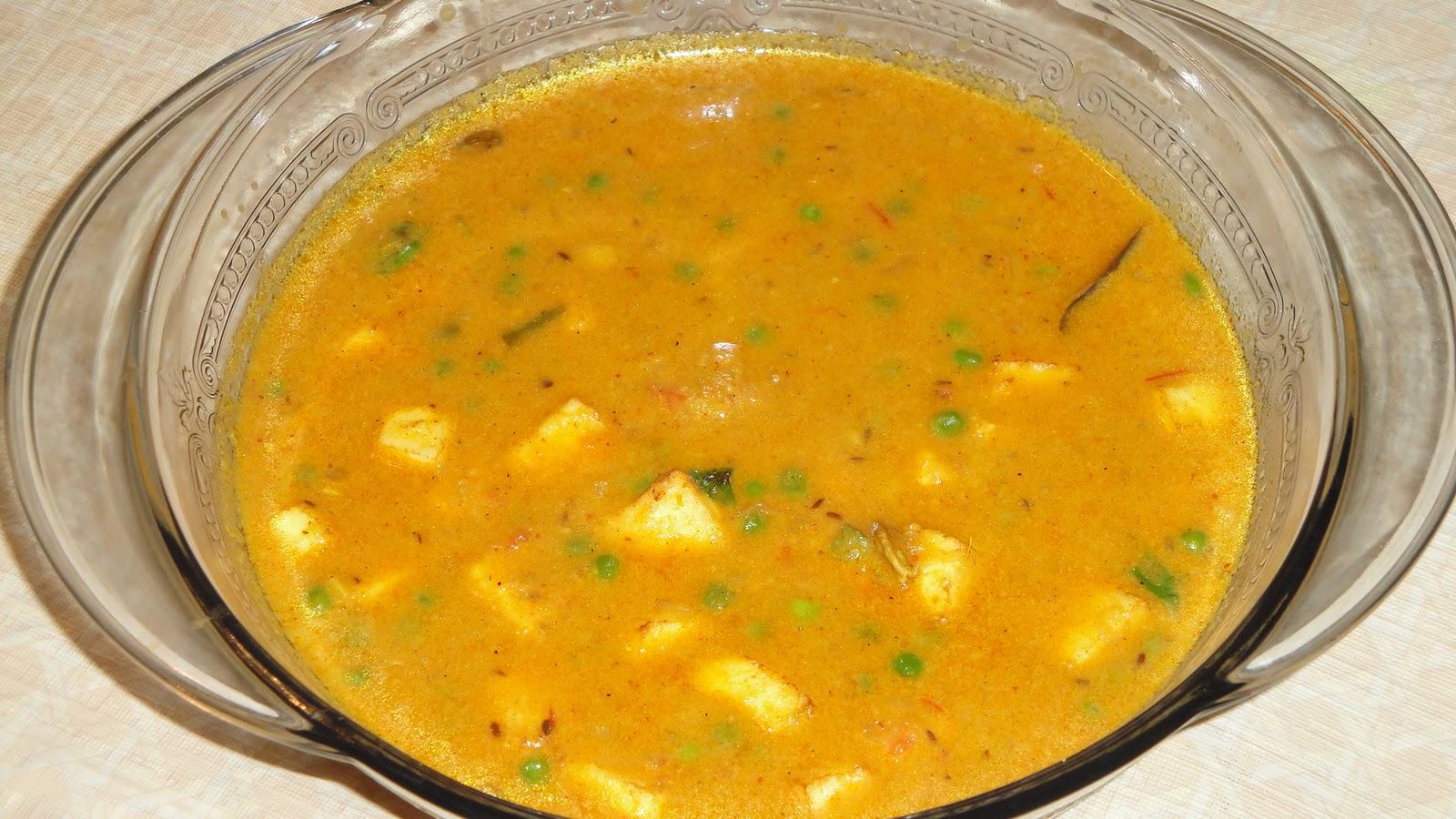 Indian Food Vegetarian Recipes Mutter Paneer