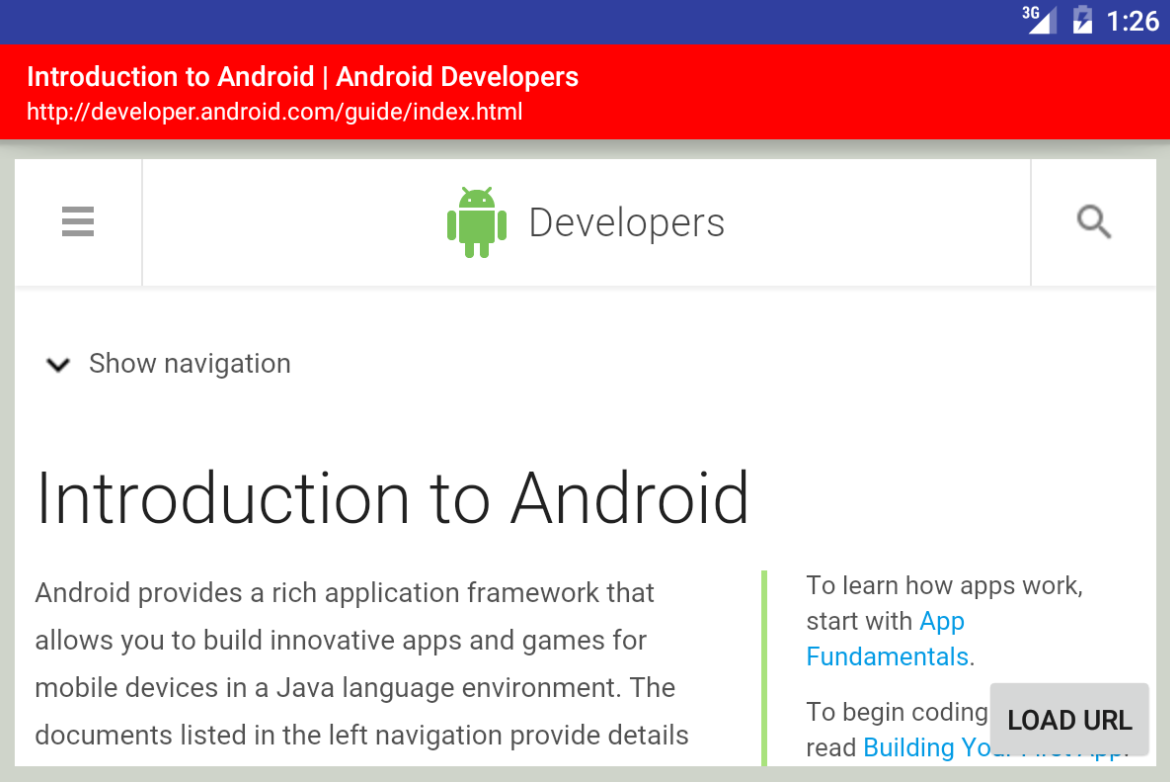 how to create webview in android