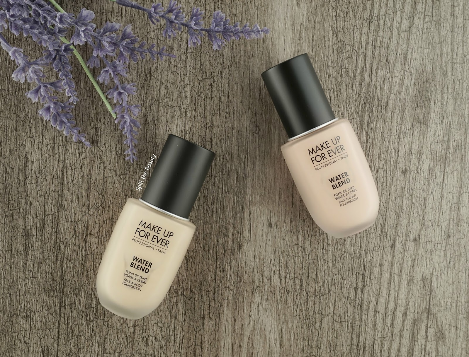 make up for ever water blend foundation y215 r240 review swatches before and after