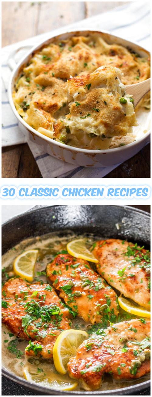 30 Classic Chicken Recipes