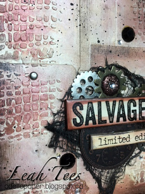 Salvaged Art Journal Page, Leah Tees, OOAK Artisans