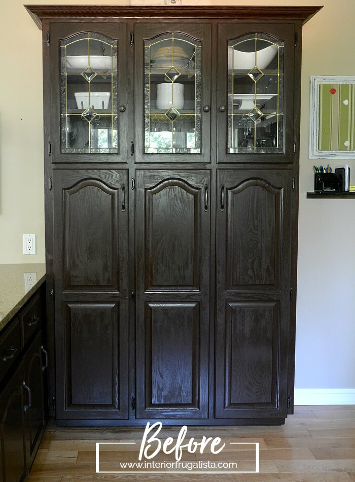 Built-In Kitchen Pantry Before Makeover