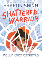 shattered warrior by sharon shinn book cover