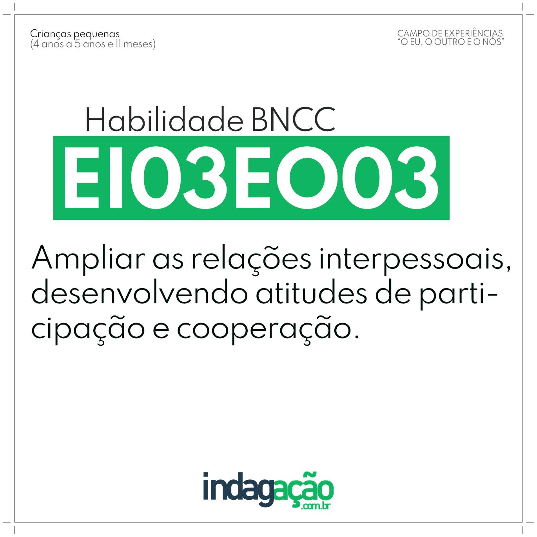 Habilidade EI03EO03 BNCC