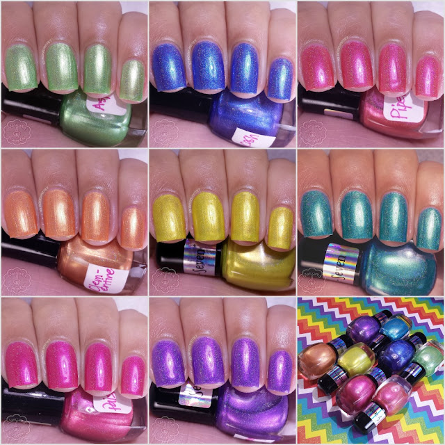 Seventy Seven Nail Lacquer - Bohemian Rainbow Collection Review & Swatches
