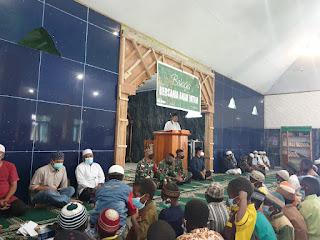Satgas TNI Bersama Organisasi Islam Laksanakan Pemberian Santunan Terhadap Anak Yatim Piatu