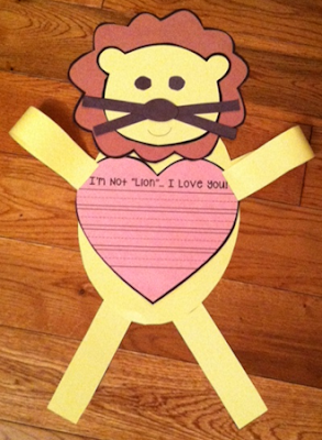 https://www.teacherspayteachers.com/Product/Im-Not-Lion-I-Love-You-2305601