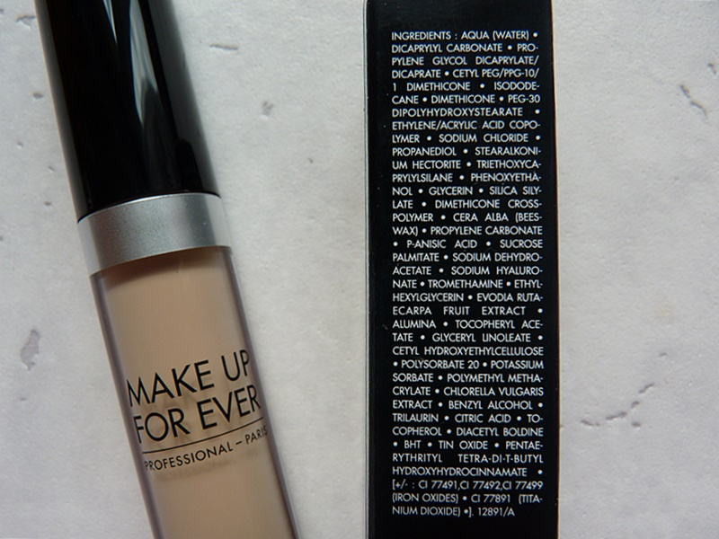 make up for ever ultra hd concealer inci ingredients
