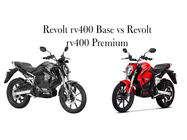 Revolt rv400 STD (base) vs revolt rv400 Premium
