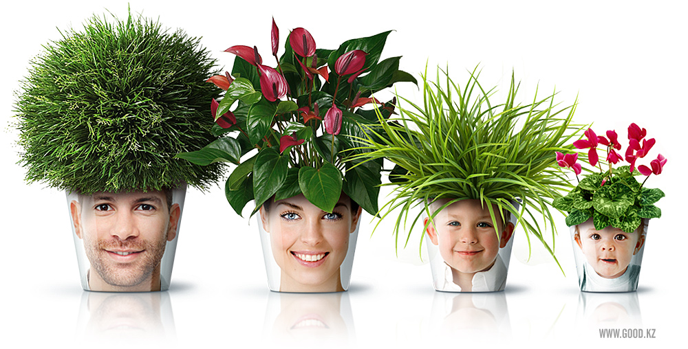 Mix And Chic: Cool DIY Project Alert- Human Face Flower Pots