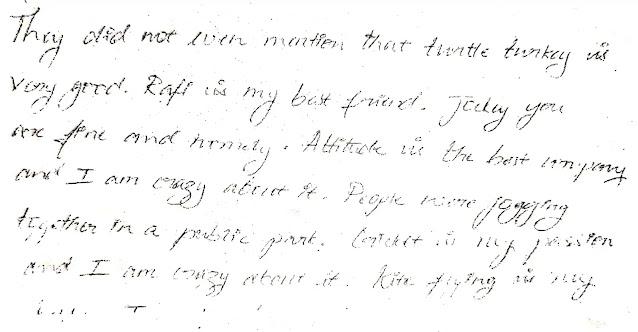 Handwriting Analysis - Emotionally Responsive - sample - apdaga