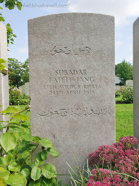 WWI Soldiers Indian Graves in Belgium Vlamertinghe Military Cemetery