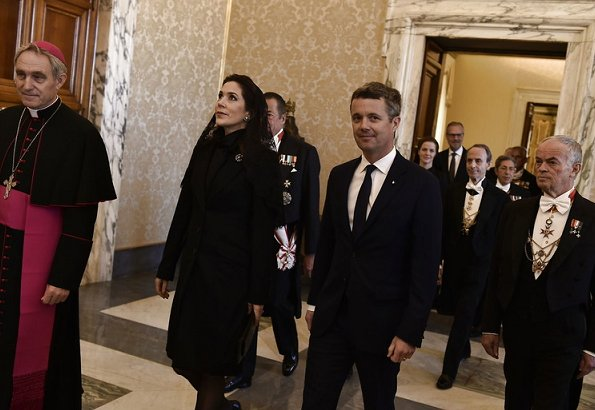 Crown Prince Frederik and Crown Princess Mary received by Pope Francis. Crown Couple visited Hospital Bambino Gesu