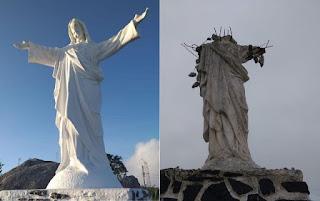Escultura de Jesus na Bahia