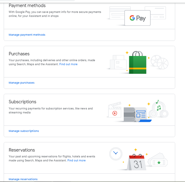 payment and subscription window with images
