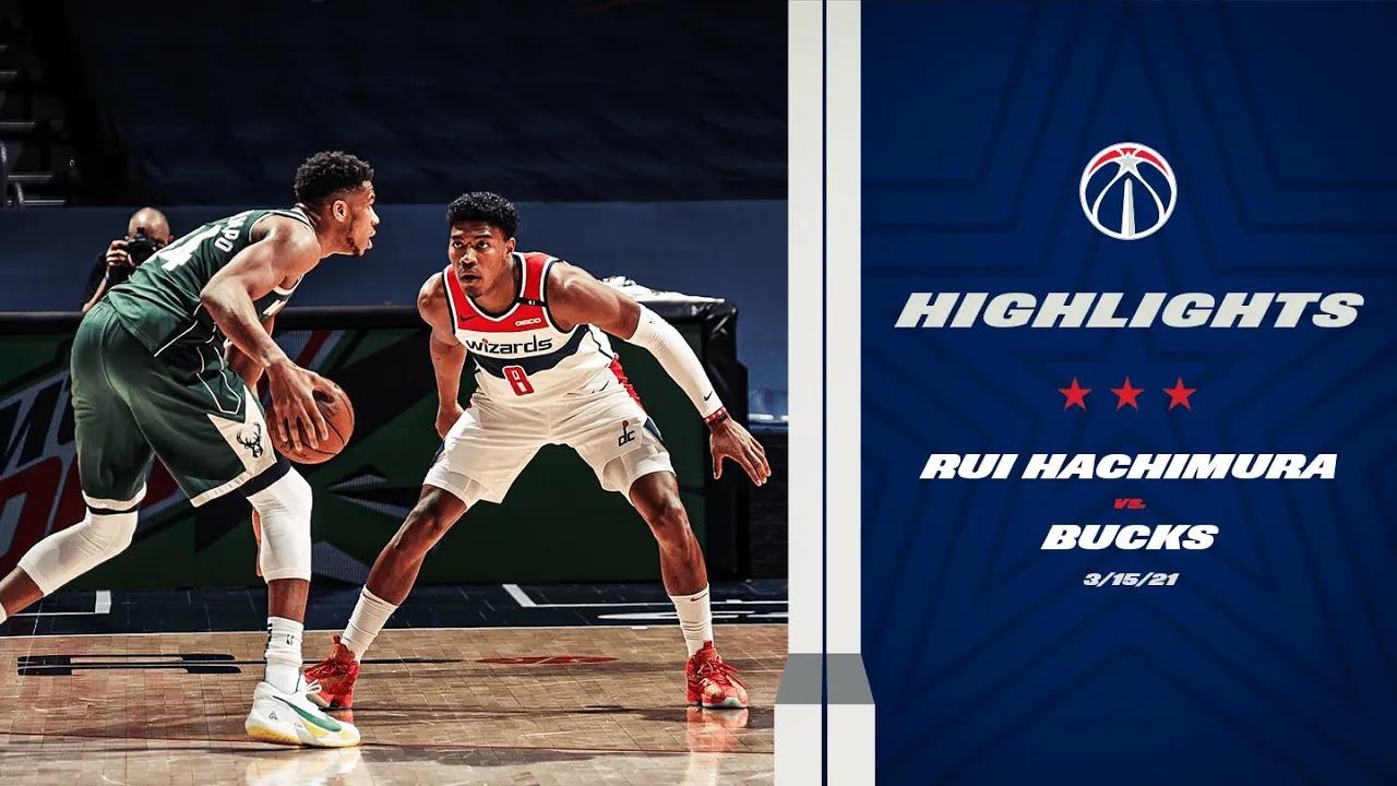 Rui Hachimura 22pts 7reb 5ast vs MIL | March 15, 2021 | 2020-21 NBA Season