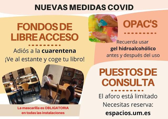 Nuevas medidas Covid, adoptadas en la biblioteca universitaria - BUMU