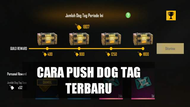 cara push dog tag ff
