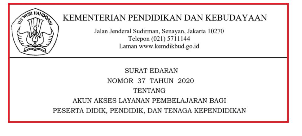gambar surat edaran no 37 tahun 2020 kemdikbud