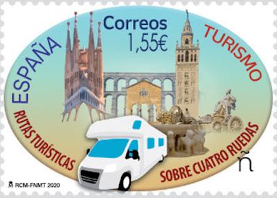 Sello, Turismo,  Autocaravana